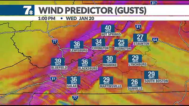 Our strong gusty wind continues today with some gusts as high as 20-40mph.