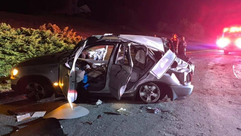 Five juveniles were taken to hospitals after a crash May 16, 2021 in Bedford County,