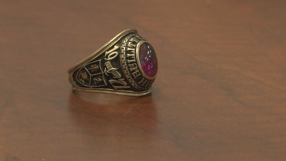 A Bullitt Central High School 1971 class ring was returned to it's original owner during a...