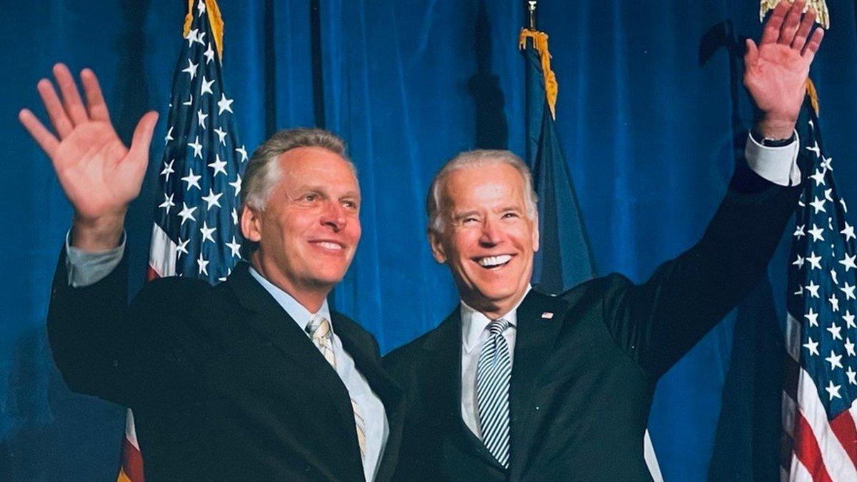 Biden Leans On Specter Of Trump, Jan. 6 In Stump Speech For Virginia Gov. Race
