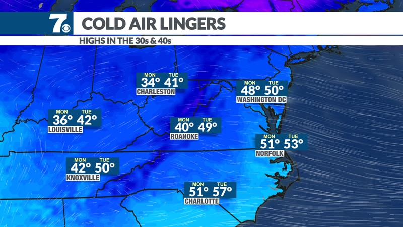 Highs stuck in the 30s and 40s.