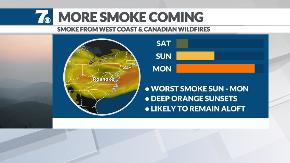 Some of the wildfire smoke moves