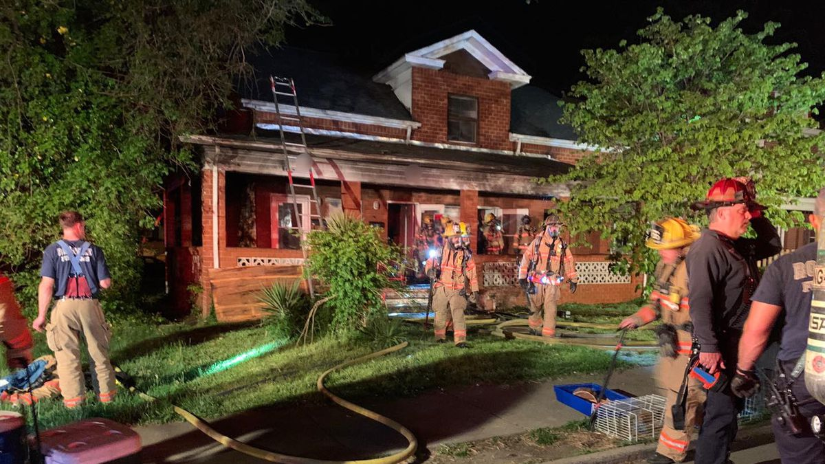 Five people were displaced May 2 following a fire in the 1500 block of Orange Avenue NW.