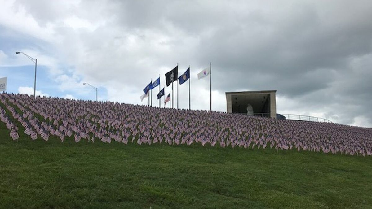 The Hill of Heroes at the Virginia War Memorial. (Source: NBC12)