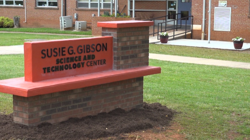 The new marker at Susie G. Gibson Science and Technology Center.