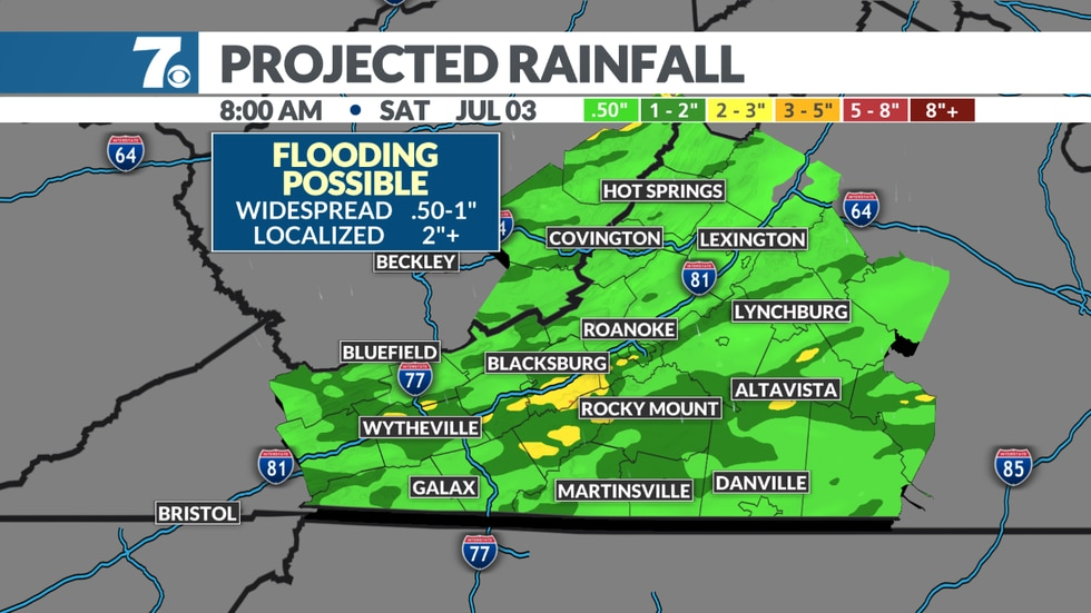 Heavy rain likely with localized flooding possible.