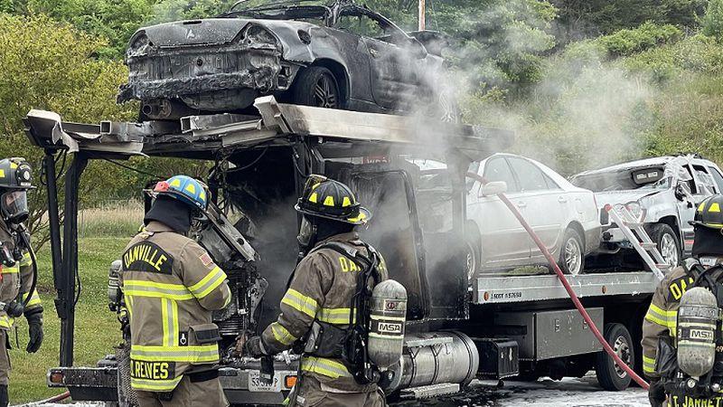 Danville Expressway Ramp Fire