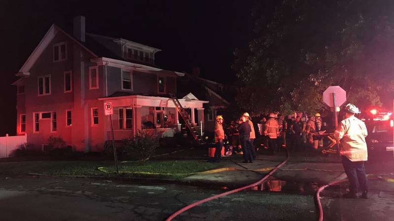 Crews working to put out fire in Roanoke