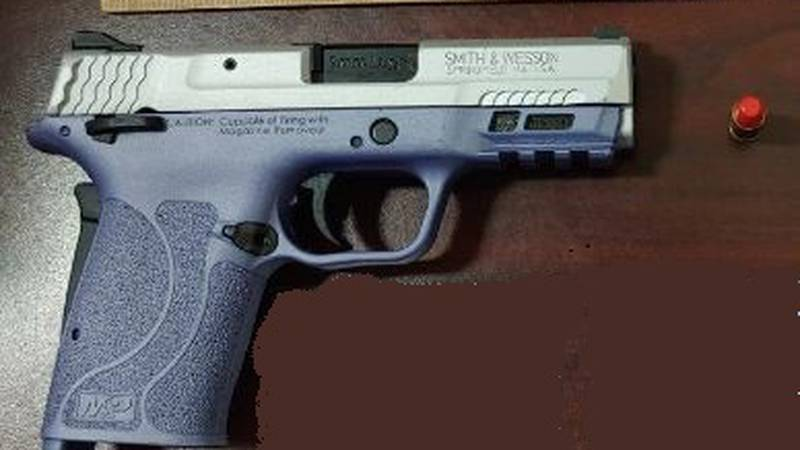 The 9mm handgun was loaded with seven bullets, including one in the chamber.