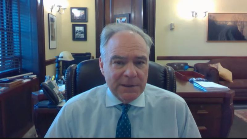 Senator Tim Kaine says next big COVID bill will focus on economic recovery.