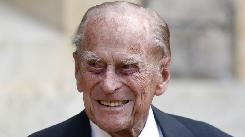 FILE - In this Wednesday July 22, 2020 file photo, Britain's Prince Philip arrives for a...