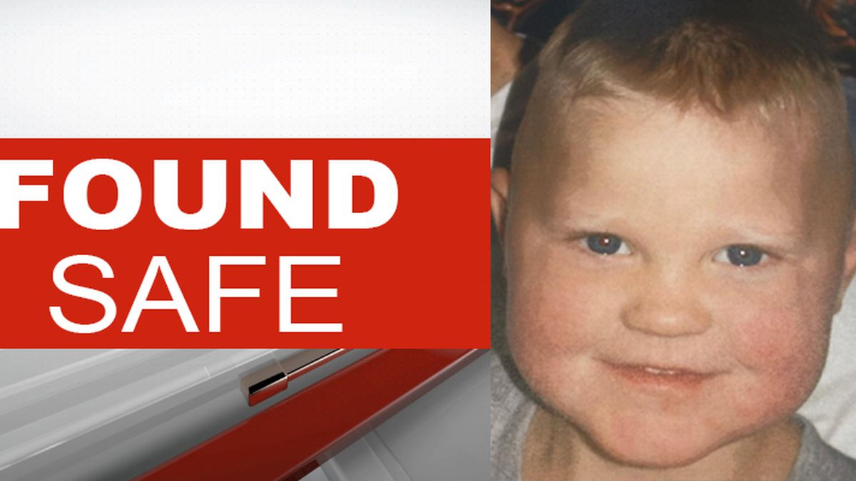 2-year-old Noah Trout has been found and is safe, officials say.