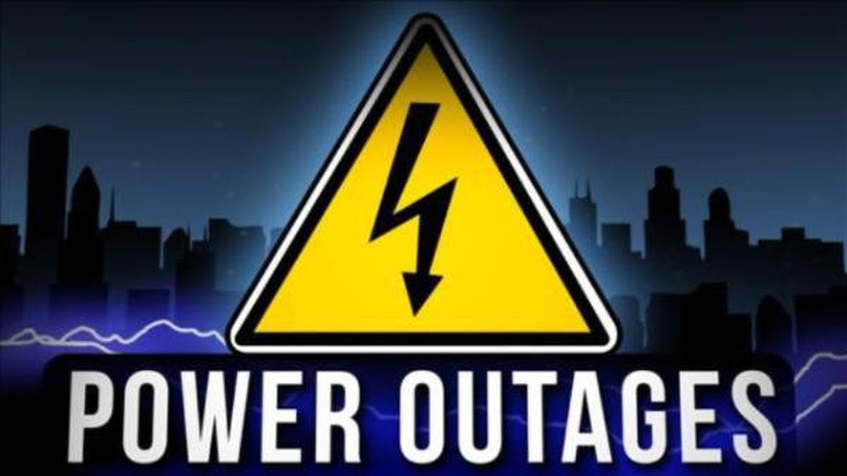 Nearly 5,000 people are without power from South Point, Ohio to Ashland, Kentucky