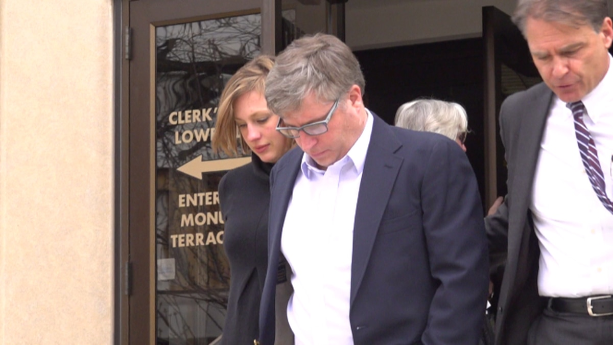 Walker Sigler leaves Lynchburg Circuit Court Monday with his wife by his side. The father of...