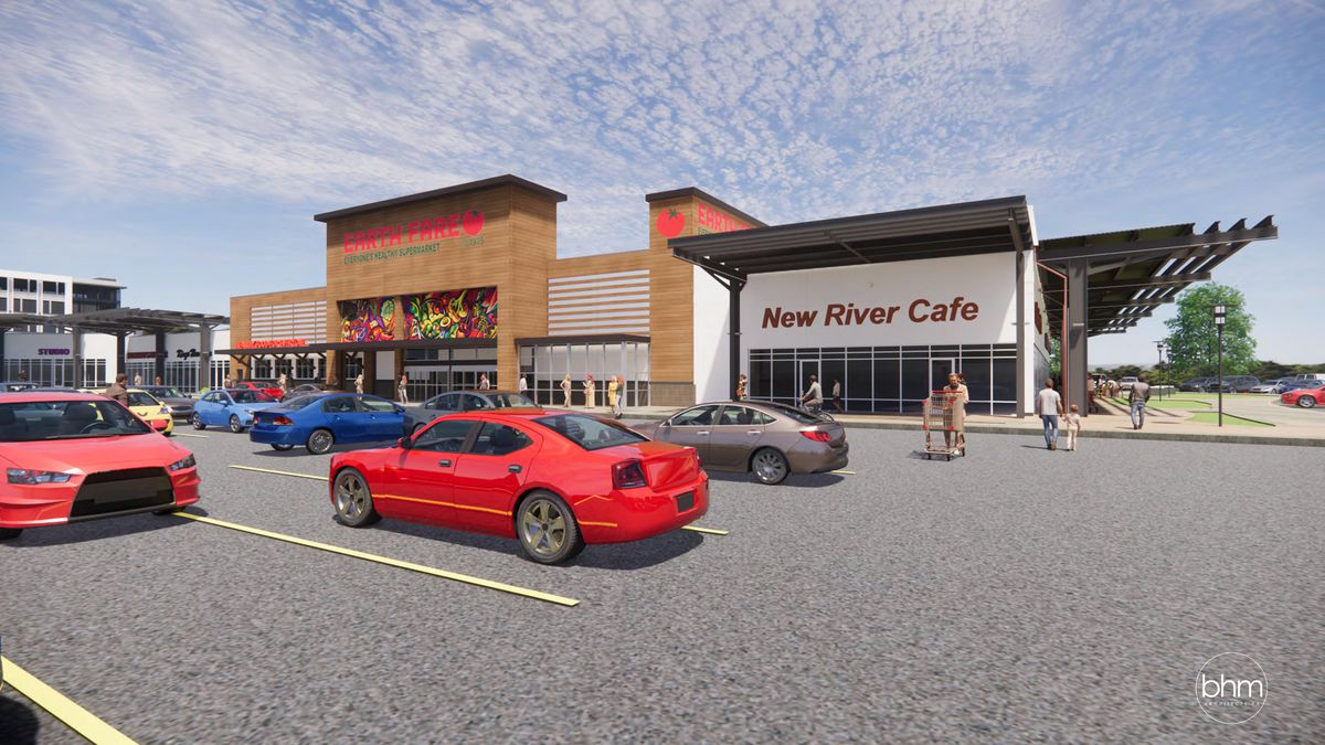 Artists rendering of the Christiansburg Marketplace location courtesy Earth Fare