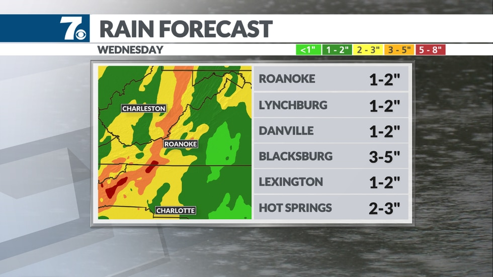 Rain could make an impact Tuesday into Wednesday.
