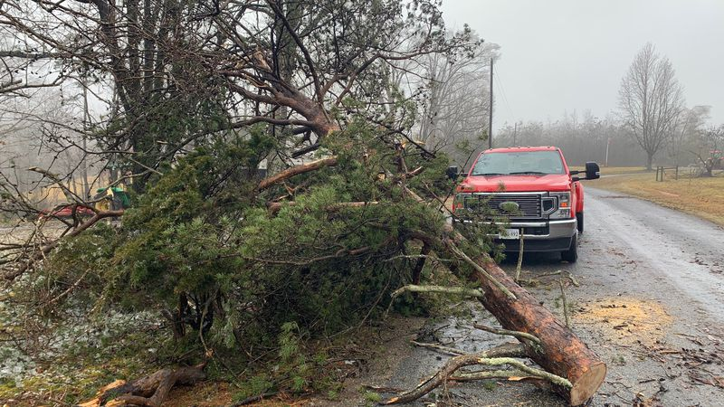 This is just some of the damage left behind in Charlotte County following a weekend ice storm.