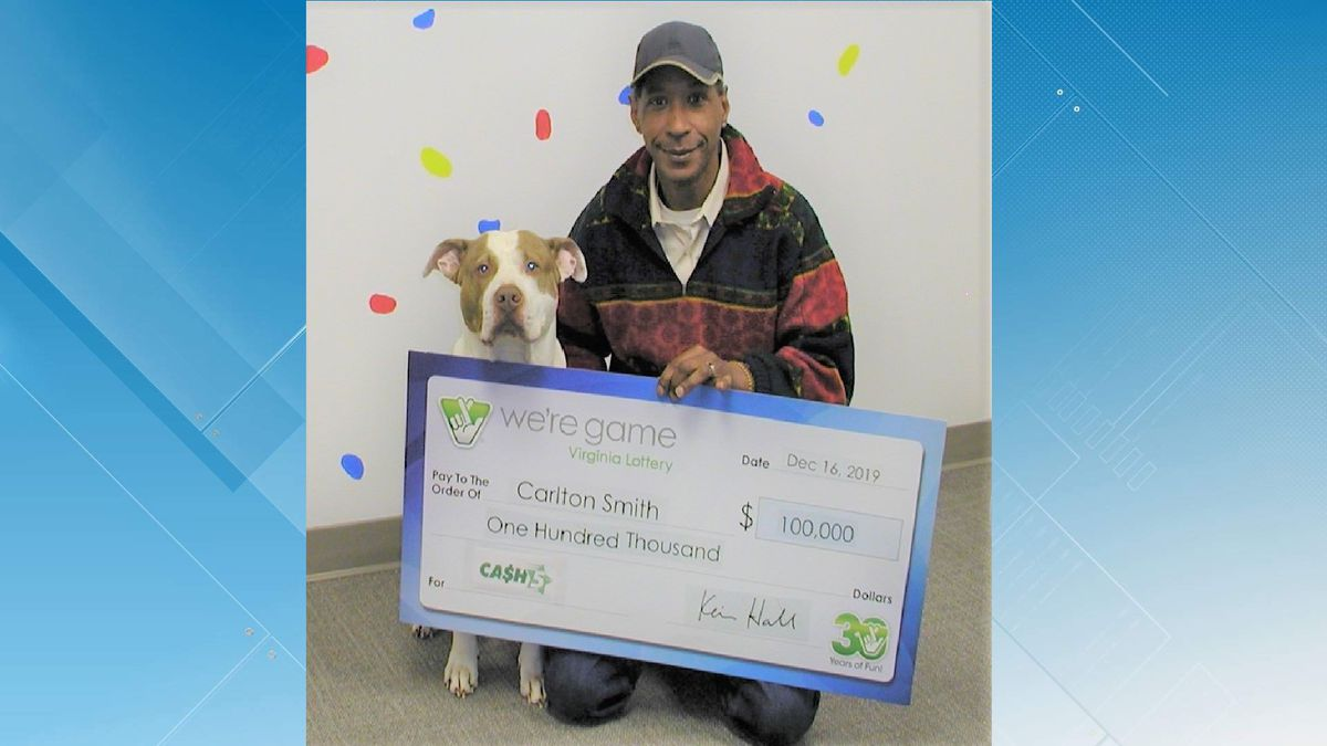 Carlton Smith, of Roanoke, claimed the $100,000 prize just two days before his ticket was set to expire. Photo courtesy Virginia Lottery.