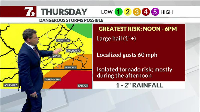 We're watching for the threat of severe weather Thursday.