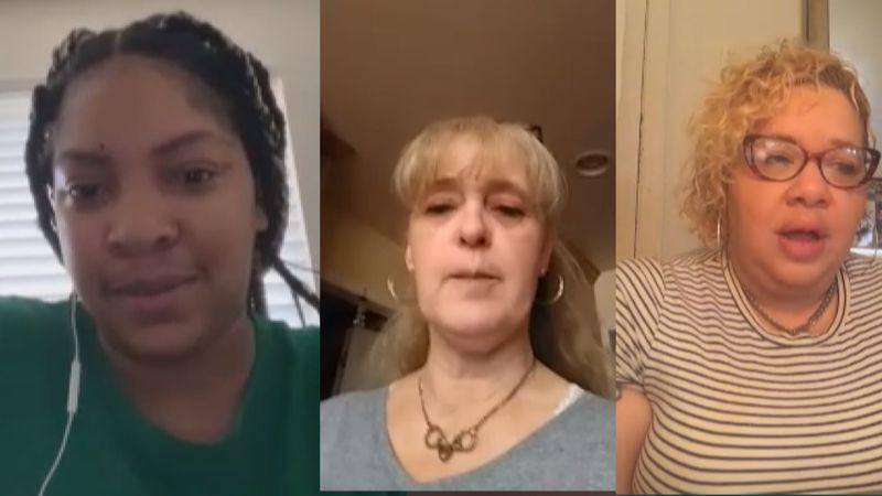 Neisha Ringgold (Norfolk), Celina Robinson (Leesville) and Kendra Luckett (Bristol) share their...