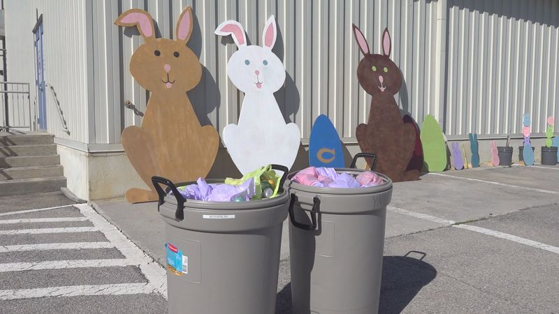 Christiansburg is hosting its Hopping Down the Bunny Trail Easter egg hunt, drive thru style...