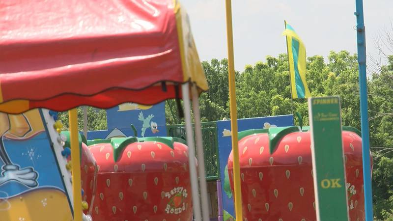 Rides wait for customers to come later at the Fairfield Carnival.