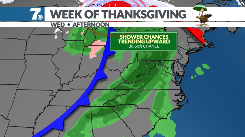 Rainy weather returns next week. We'll keep an eye on travel weather for the Thanksgiving...