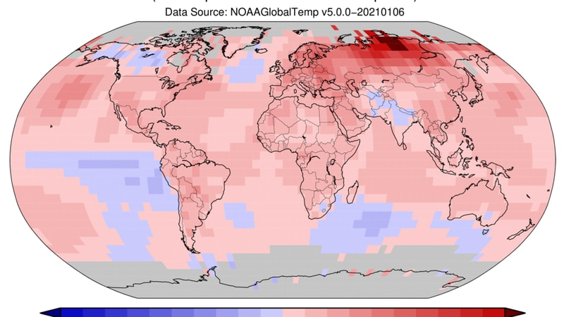 Well-above average warmth, especially in northern hemisphere.