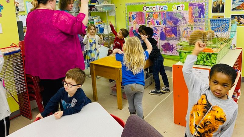 Good student-teacher interaction is the main thing to look for in preschools