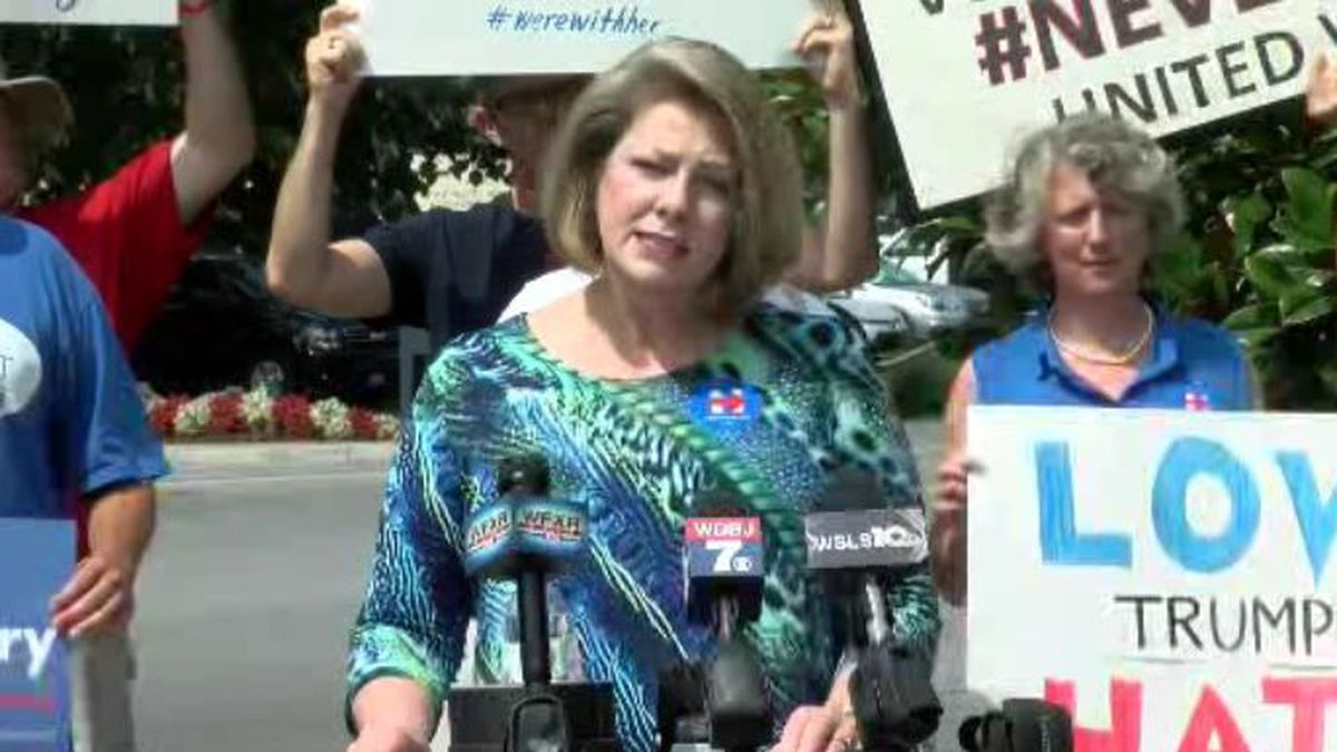 Roanoke-area Democrats held a news conference on Monday, July 25, 2016 ahead of the Trump-Pence...