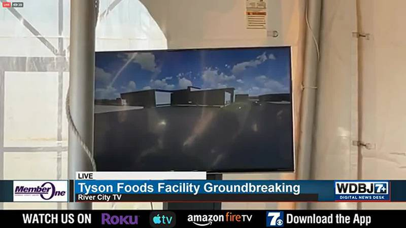 Tyson Foods Facility Groundbreaking in Ringgold