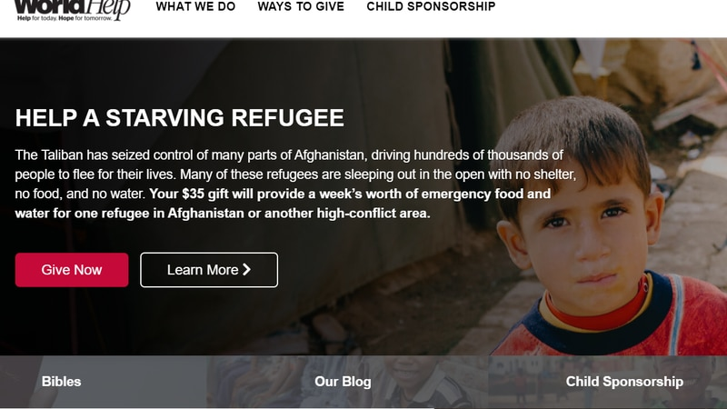 The website provides more ways to help refugees.
