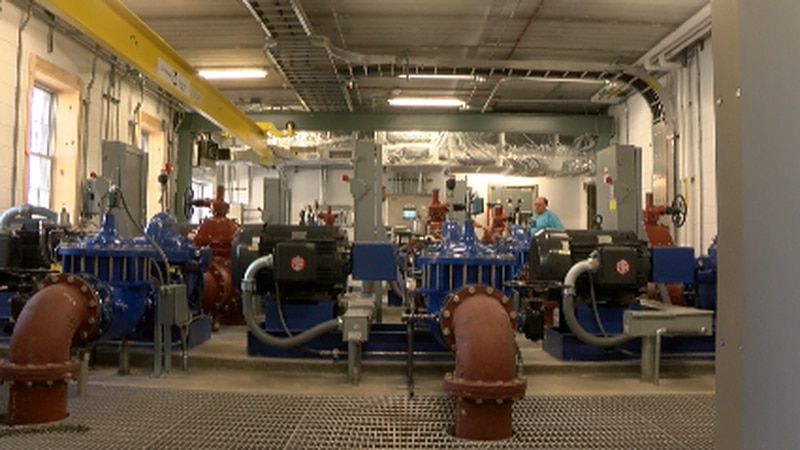 This is what the pump room looks like at the Crystal Spring Water Treatment Plant