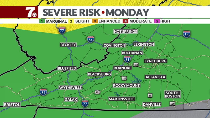 We have a marginal risk of severe storms this afternoon. Meaning isolated strong storms are...