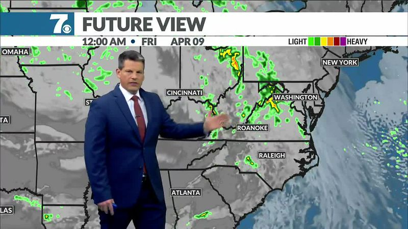 Showers and storms return late Thursday.