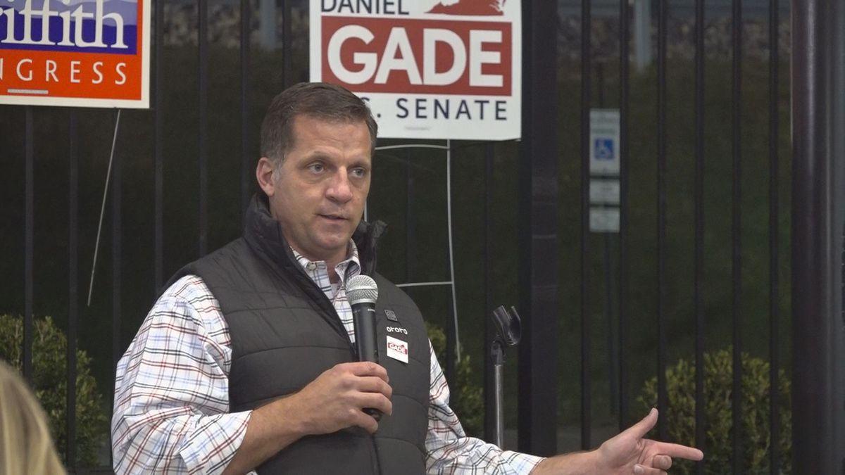 Republican U.S. Senate candidate Daniel Gade campaigned in western Virginia Saturday.