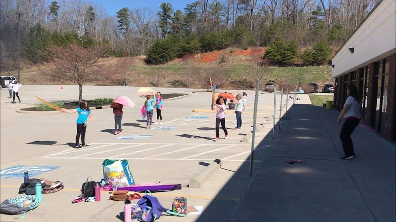 Kids take dance classes at Deep and Wide Homeschool Co-Op in Christiansburg.