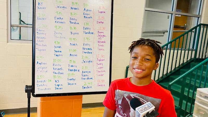 Roanoke City fifth grader KJ Saint-Jean says his Y classroom teacher helps him with his on-line...