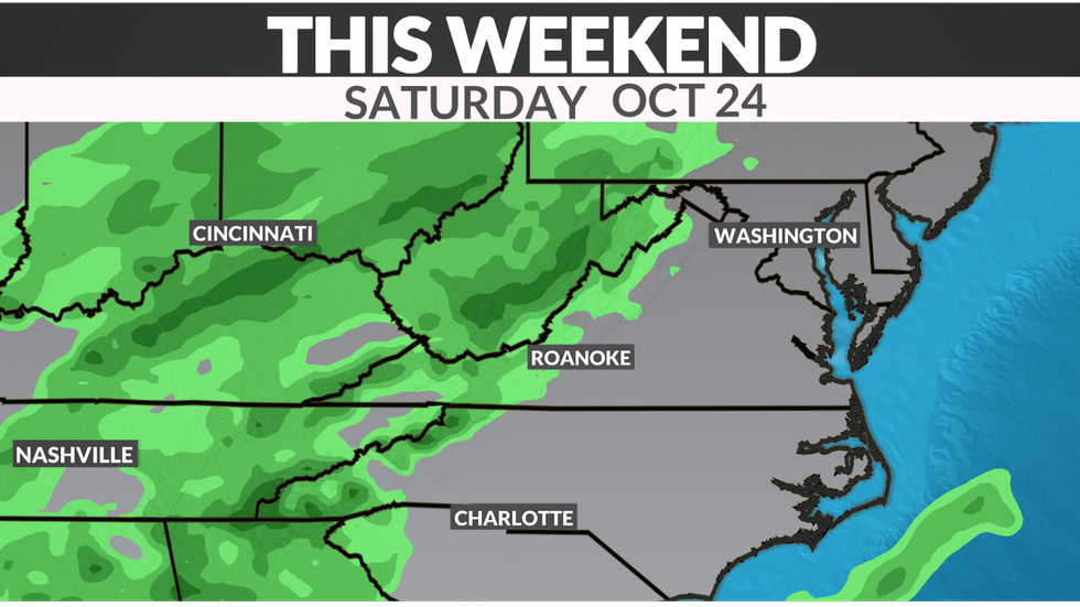 A cold front remains to our east this weekend with limited shower chances expected.