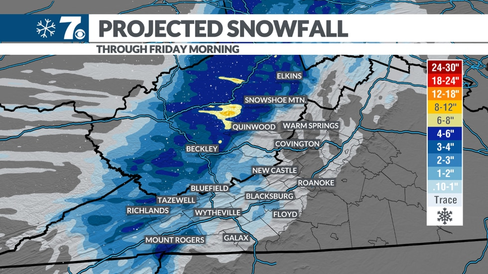 Snow showers could add up for some as we head into Christmas Eve.