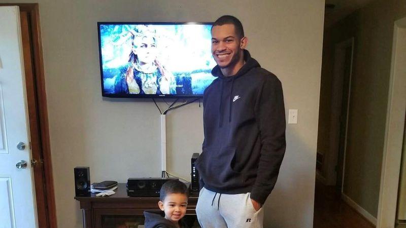 Rico Turner poses with his son, Kaleb.