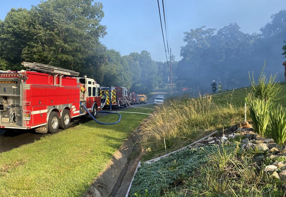 House fire on Rolling Hill Drive in Franklin County