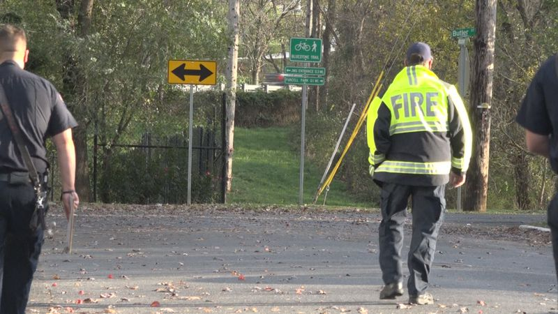 Members of the Harrisonburg Fire Department canvas local neighborhoods affected by Oct. 17th...