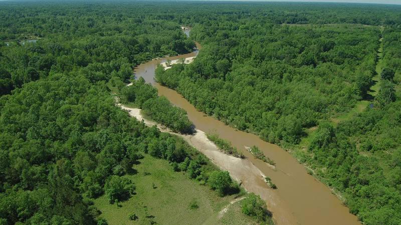 Aerial file photo of the Comite River near Plank Road in Zachary, La.