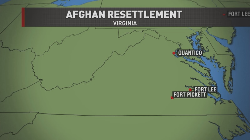 Two more military bases in Virginia will receive Afghan refugees this weekend.