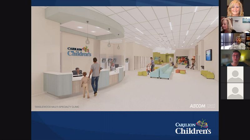 Officials discussed over Zoom the opening of Carilion Children's outpatient center in...