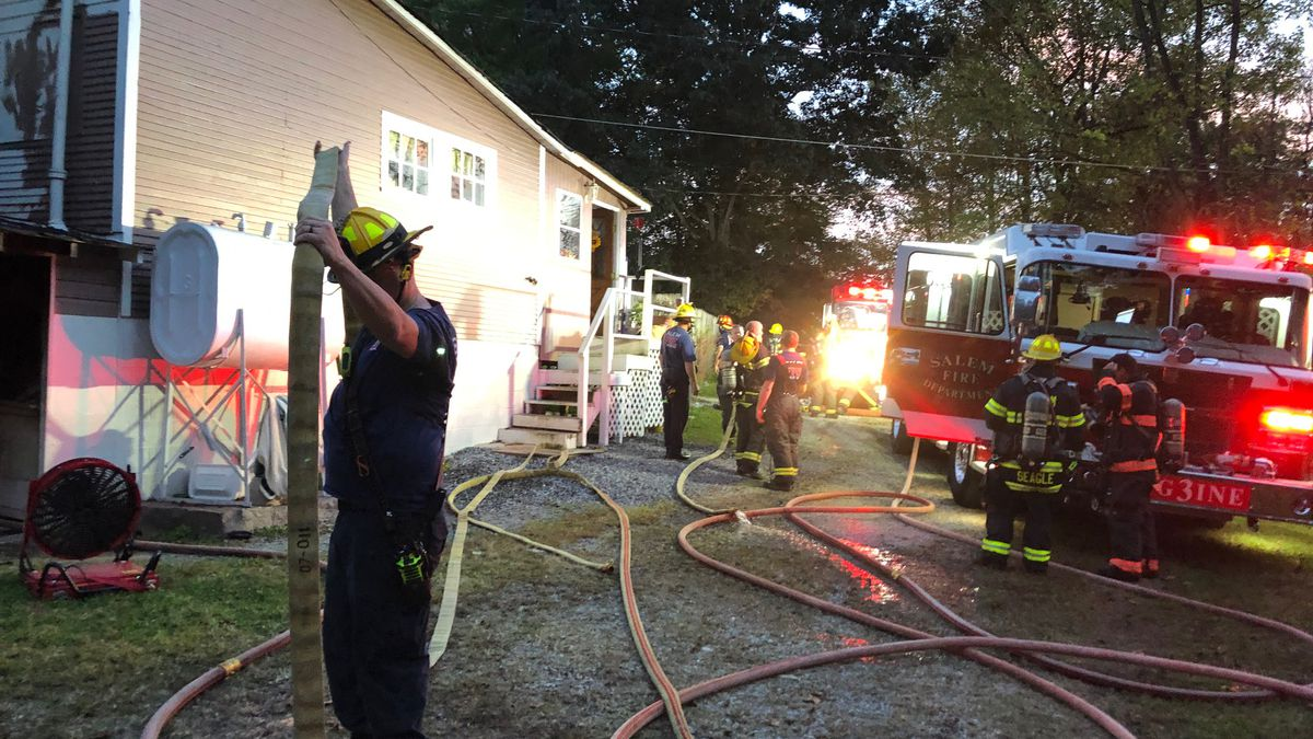 A fire on Sparrow Lane in Salem displaced two people.