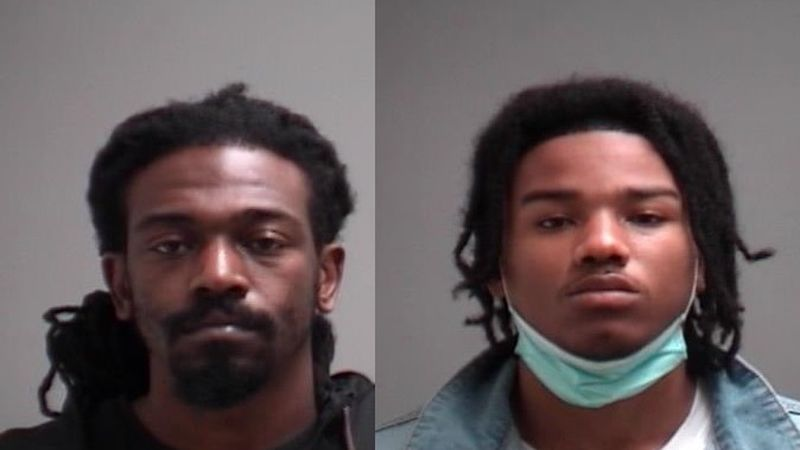 (L-R) : Jamal Jenkins, Rosario Eggleston, suspects in a fatal shooting in Martinsville