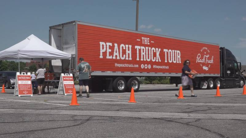 The 'Peach Truck Tour' makes a few stops in Southwest Virginia