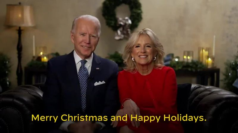 President-elect Joe Biden and his wife Dr. Jill Biden shared a video Christmas morning wishing...